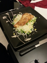 teriyaki salmon and rice