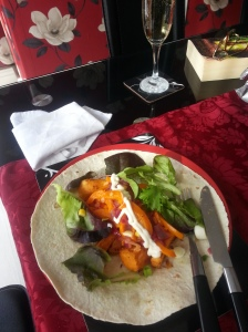 Sweet potato spicy wraps