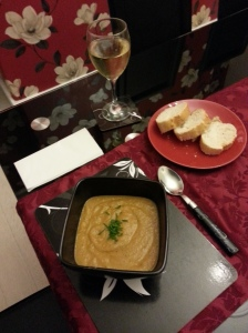 Roasted Carrot and Garlic Soup - First Attempt