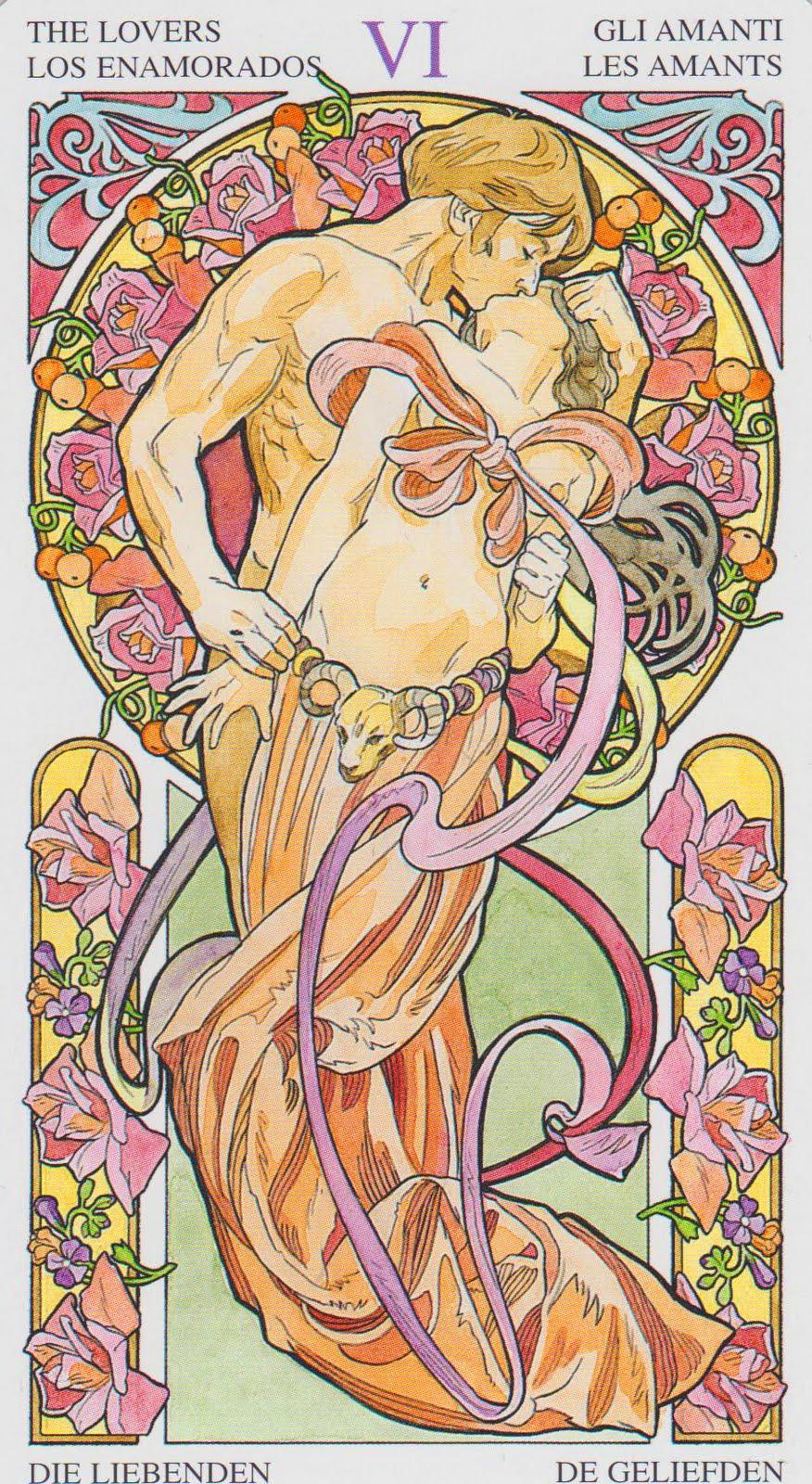the-lovers-art-nouveau-tarot