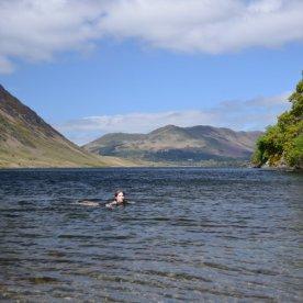 Wild swim at Crummock Water