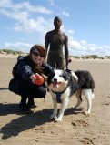 Christine, Riley and Anthony Gormley