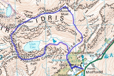 cadair_walk_route
