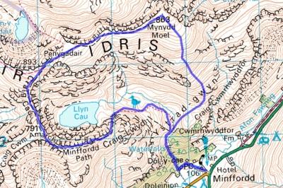 cadair_walk_route