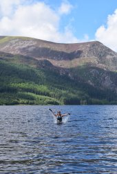 Swimming in Llyn Cwellyn
