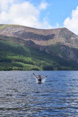Swimming in Llyn Cwellyn