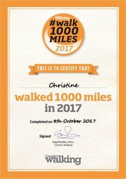 #walk1000miles certificate