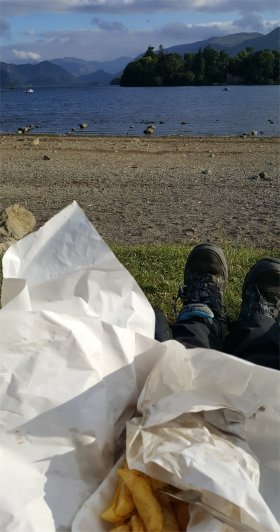 Chips by Derwentwater