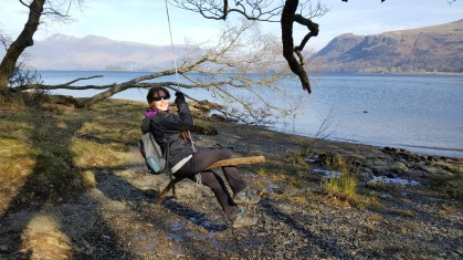 Rope swing at Derwentwater