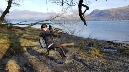 Rope swing at Derwentwater