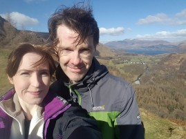 David and Christine at Castle Crag