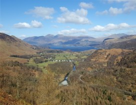 Derwentwater from Castle Crag