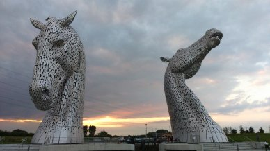 Evening with the Kelpies