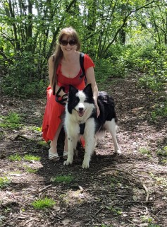 Christine and Riley at Mere Sands Wood