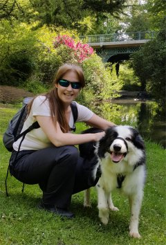 Christine and Riley at fairy Glen