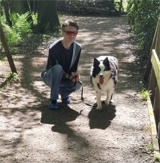 David and Riley at mere Sands Wood