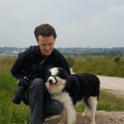 David and Riley at Port Sunlight River Park