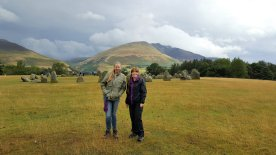 Jennifer and Christine at Castlerigg