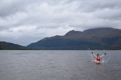 Swimming in Loch Lomond
