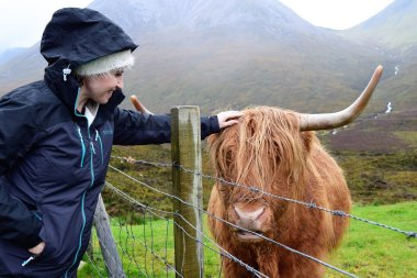 Christine and Highland Cow