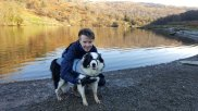 David and Riley at Rydal Water