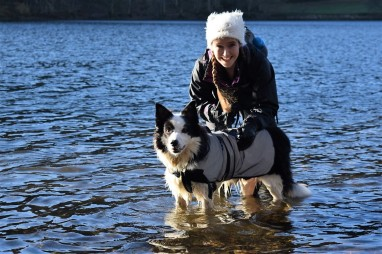 Christine and Riley in Grasmere