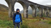 David at Glenfinnan Viaduct
