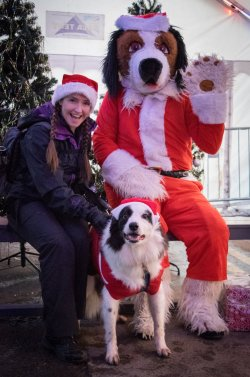 riley and santa paws