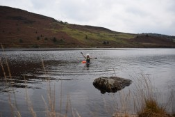Wild swimming at llyn geirionydd